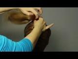 Плетение кос - Французская коса с Пучком